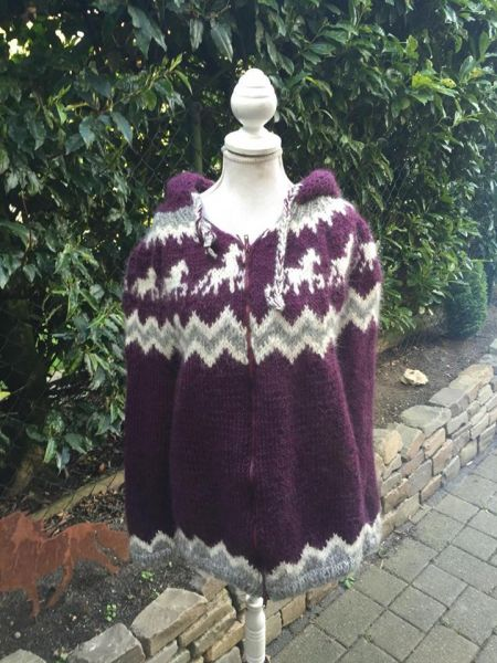 Strickjacke Islandwolle